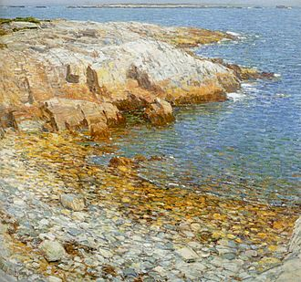 Isles of Shoals - Childe Hassam. Isles of Shoals, Broad Cove, 1911. Oil on canvas. Honolulu Museum of Art.