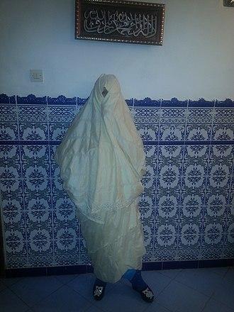 Haik (garment) - Image: Hayek Mascara region (1)