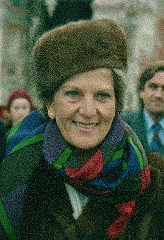 Hazel Hawke - Hawke on a visit to Moscow in 1987