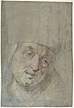 Head of a Pope(?) (recto); Two Studies of Left Hand (verso) MET DP807850.jpg