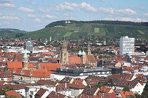 Heilbronner Innenstadt und Wartberg