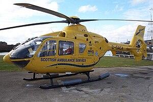 "Scottish Ambulance Service - EC-135 G-SASA ""Helimed 5"" at Glasgow City Heliport"