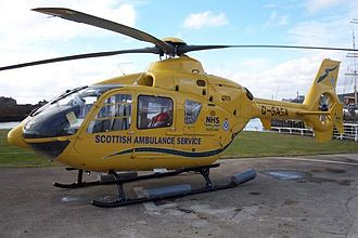 "Scottish Ambulance Service - EC-135 G-SASA ""Helimed 5"" at Glasgow City Heliport"