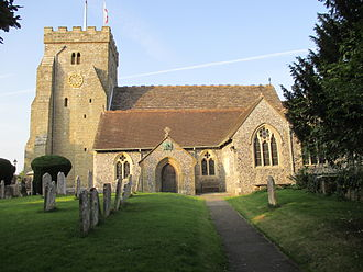St Peter's Church, Henfield - The church from the south
