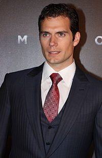 Cavill i Sydney under premiären av Man of Steel i juni 2013.