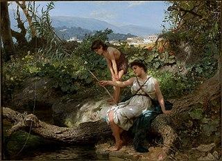 Roman bucolic (Fishing).