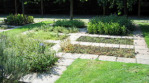 Kitchen garden - An herbal garden at Beernem, Belgium