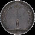 Herdenkingspenning 19 januari 1795 - 4 maart 1795 Amsterdam, achterzijde.png