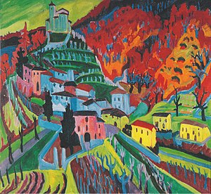 Hermann Scherer - Mendrisiotto with Church of Obino, 1926