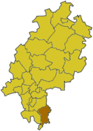 Odenwaldkreis - Image: Hesse erb