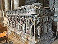 Highly-damaged and part-reconstructed tomb of John Neville, 3nd Baron Neville de Raby and his first wife, Maud Percy, in Durham Cathedral.jpg