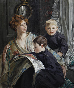 Hilda Fearon A portrait of a mother and her two sons 1911