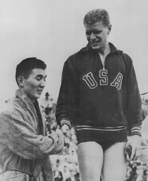 Clarke Scholes - Scholes (right) at the 1952 Olympics