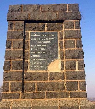 Battle of Elandslaagte - Image: Hollanderkorps Memorial at Elandslaagte