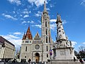 Holy Trinity column and Matthias Church, 2013 Budapest (301) (13228172403).jpg