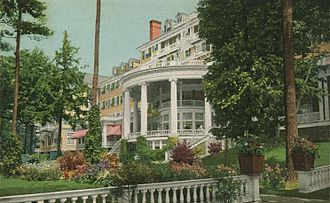 Lenox, Massachusetts - Hotel Aspinwall in 1912, now the site of Kennedy Park