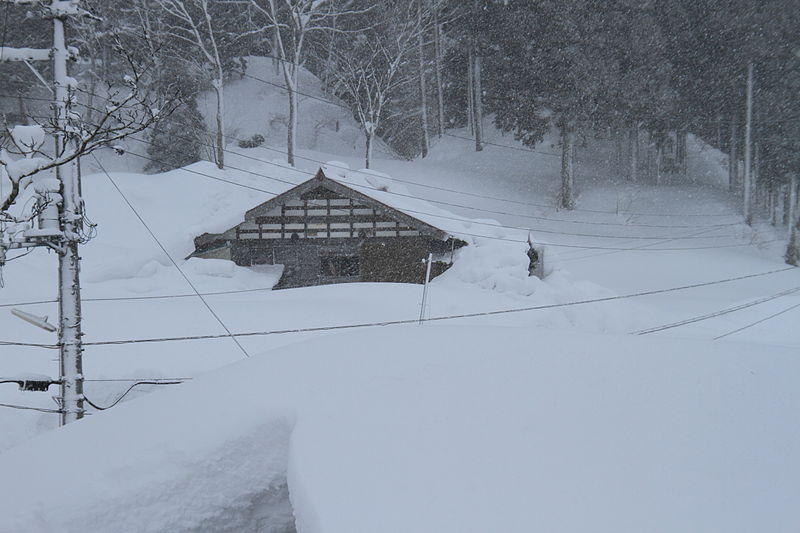 File House Buried Under Snow Koshirakura Tōkamachi