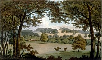 Humphry Repton - Site at Wentworth, South Yorkshire before proposed landscaping