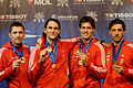 Hungary podium team 2013 Fencing WCH t221510.jpg