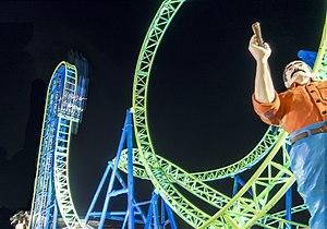 Hydrus (roller coaster) - Image: Hydrus roller coaster night