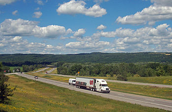 View north on Interstate 390 from NY 36 near S...