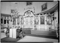 INTERIOR, NAVE, ICONOSTAS, LOOKING NORTHEAST - Saint Michael's Cathedral, Lincoln Street, Sitka, Sitka Borough, AK HABS AK,17-SITKA,1-13.tif