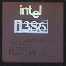Een Intel 80386 DX a 33 MHz.