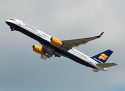 Icelandair Boeing 757-200 (TK-FIT) departs London Heathrow Airport 2ndJuly2014 arp.jpg