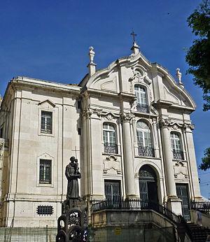 Santo António Church - Entrance of the church-shrine.