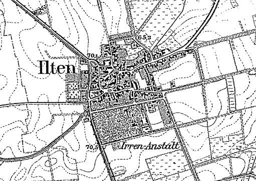 Ilten in Preussische Landesaufnahme vom 1896 Blatt 3625 Lehrte