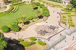 Calçada portuguesa do Parque da Independência