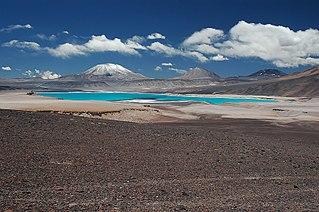 Nevado El Fraile mountain in Tinogasta Department Chile