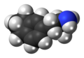 Indanylaminopropane molecule spacefill.png