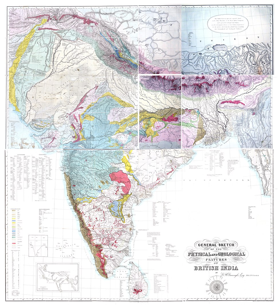 India geology Greenough 1855