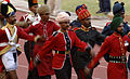 Indian soldiers in historical, traditional and contemporary ceremonial dress lead the athletes participating in the 4th Conseil Internationale du Sport Militaire Military World Games, set in Hyderabad.JPG
