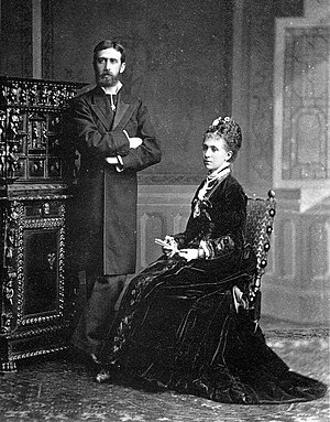 Infante Alfonso Carlos, Duke of San Jaime - Infante Alfonso Carlos and his wife Maria das Neves of Portugal.