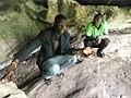 Inside the Tano Rock Shrine, in Tanoboase, Ghana.jpg