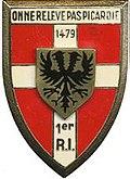Insigne régimentaire du 1er Régiment d'Infanterie.jpg
