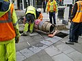Installing a postbox, Canal Walk, Swindon (1 of 4) - geograph.org.uk - 1749722.jpg