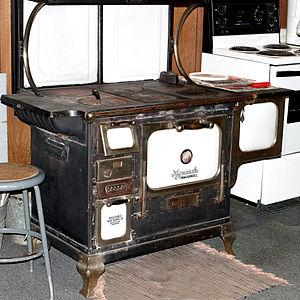Kitchen stove - A wood burning iron stove