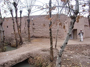Irrigation channel outside traditional house (4359800535).jpg