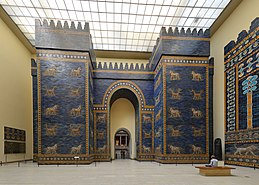Ishtar gate in Pergamon museum in Berlin..jpg