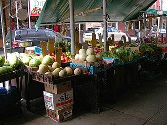 Italian Market, Philadelphia - Image: Italian Market Philadelphia Produce 3264px