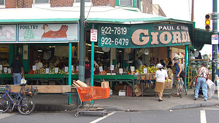 Italian Market, part of South Philadelphia's Italian heritage Italian Market Vegetable Stand 3000px.jpg