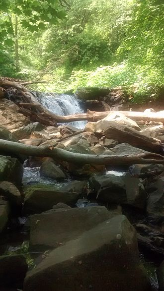 Ithan Creek - A waterfall on Ithan Creek in Radnor Township, Pennsylvania