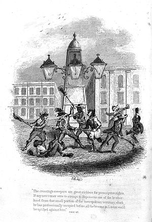 J. Grant, Crossing sweepers in Sketches in London Wellcome L0012013.jpg