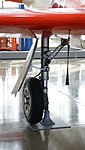 JASDF T-1A(15-5825) right main landing gear right front view at Hamamatsu Air Base Publication Center November 24, 2014.jpg