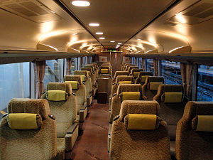 283 series - Image: JRW series 283 inside greencar