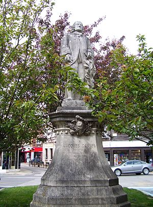 Jacques Daviel - monument to Jacques Daviel in Bernay