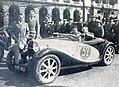 Jacques Dupuy, vainqueur du Critérium Paris-Nice 1933, sur Bugatti Type 55 2.3L. cabriolet SuperSport.jpg